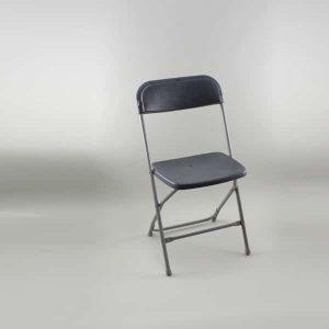 Folding Chair - Standard, Plastic, Grey