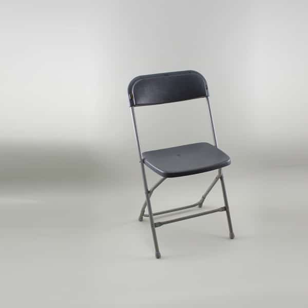 Folding Chair - Standard, Plastic, Grey