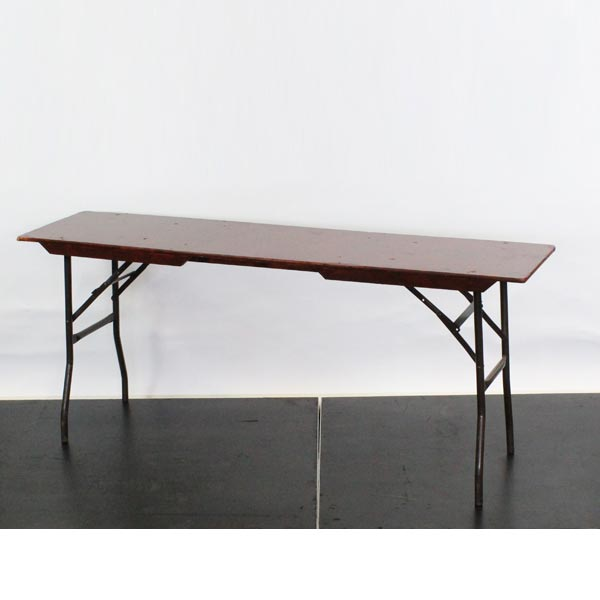 "Wooden Rectangular Buffet/Trestle Table, 6'x1'6"" - L72""xW18""xH30"" (182x45x76cm)"