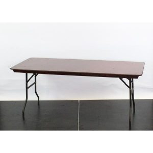 "Wooden Rectangular Trestle Table c/w Bullnose Edge, 5'x2'6"" - L72""xW30""xH30"" (182x76x76cm)"