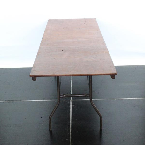 Wooden Rectangular Trestle Table Standard - 8' x 2'6""