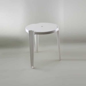 "2'6"" (45cm) Dia. Patio Table - Plastic, White"