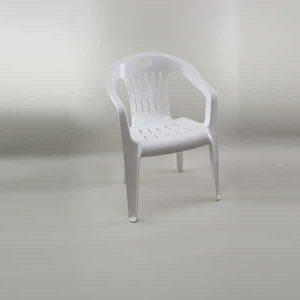 Patio Chair - Plastic, White