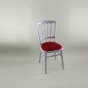 Bentwood Chair - Silver Frame with Red Seat Pad - 1003 & 1005A
