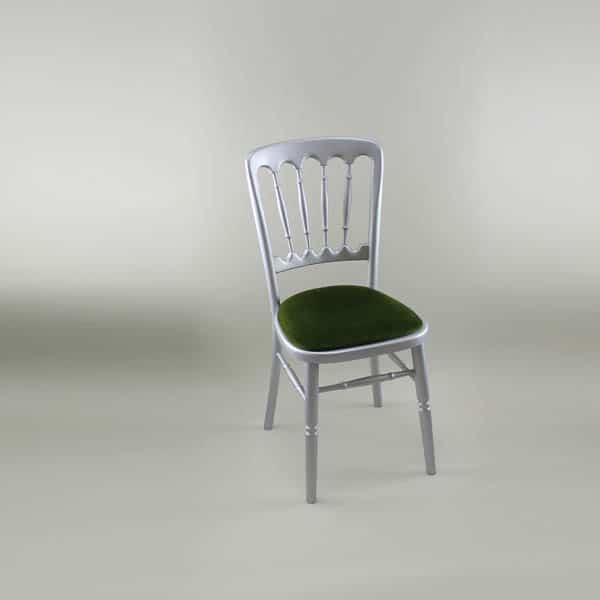 Attirant Bentwood Chair U2013 Silver Frame With Green Seat Pad U2013 1003 U0026 1005B