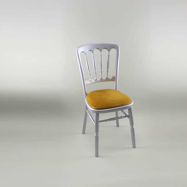 Bentwood Chair - Silver Frame with Gold Seat Pad - 1003 & 1005C