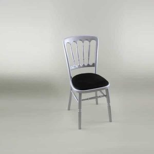 Bentwood Chair - Silver Frame with Black Seat Pad - 1003 & 1005D