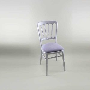 Bentwood Chair - Silver Frame with Lilac Seat Pad - 1003 & 1005E