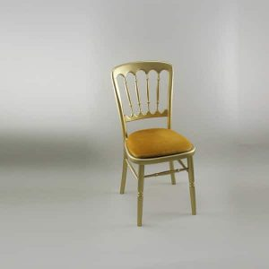 Bentwood Chair - Gold Frame with Gold Seat Pad - 1004 & 1005C