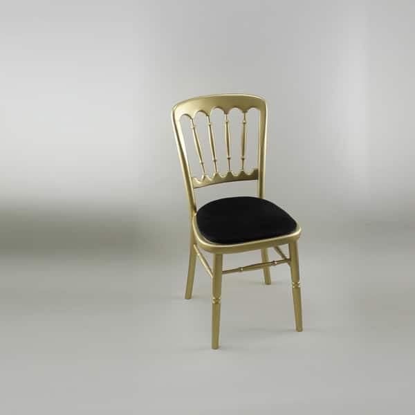 Bentwood Chair - Gold Frame with Black Seat Pad - 1004 & 1005D