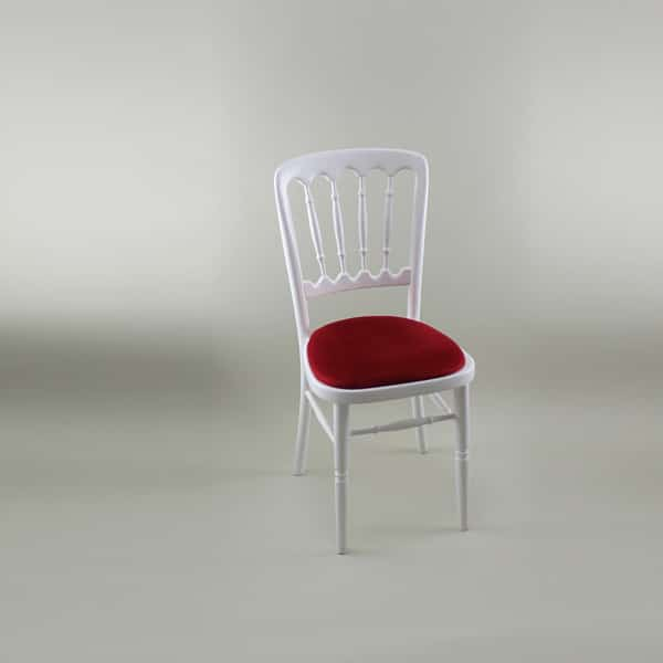 Bentwood Chair - White Frame with Red Seat Pad - 1004A & 1005A