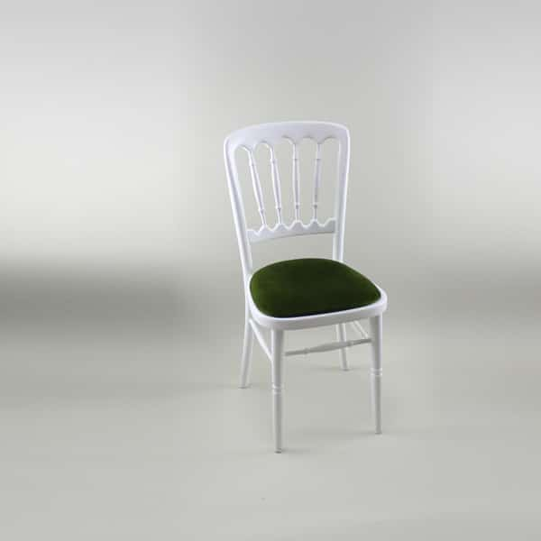 Bentwood Chair - White Frame with Green Seat Pad - 1004A & 1005B