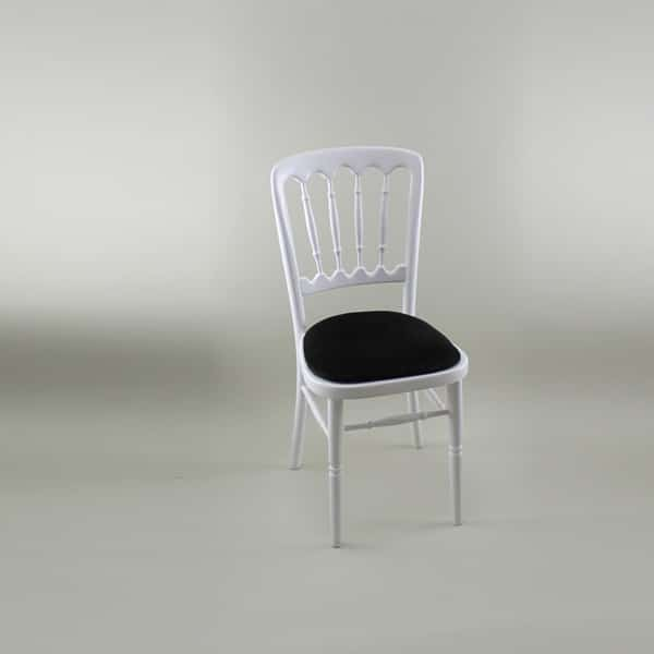 Bentwood Chair - White Frame with Black Seat Pad - 1004A & 1005D