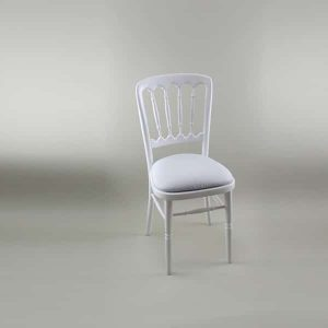 Bentwood Chair - White Frame with White Seat Pad Cover (Plain) - 1004A & 1006C