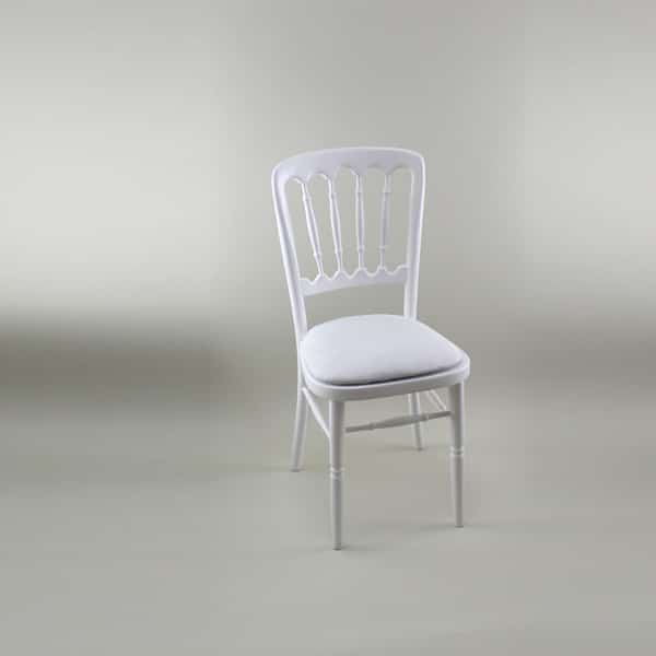 Bentwood Chair - White Frame with White Seat Pad Cover (Rose) - 1004A & 1006CR
