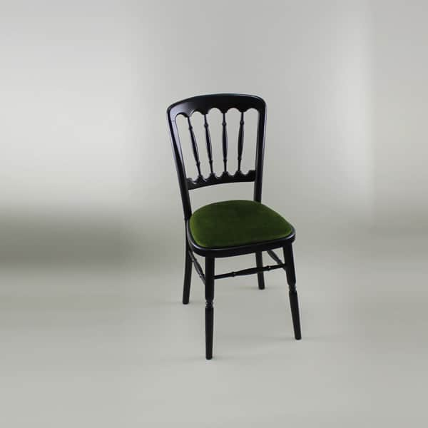 Bentwood Chair - Black Frame with Green Seat Pad - 1004B & 1005B
