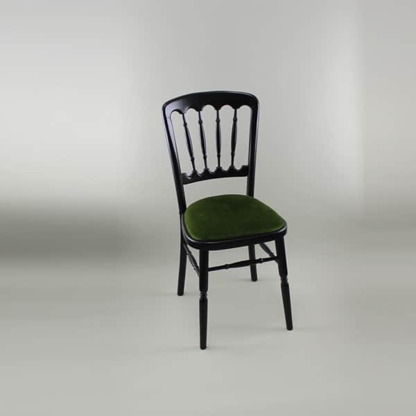 Bentwood Chair U2013 Black Frame With Green Seat Pad U2013 1004B U0026 1005B