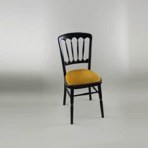 Bentwood Chair - Black Frame with Gold Seat Pad - 1004B & 1005C