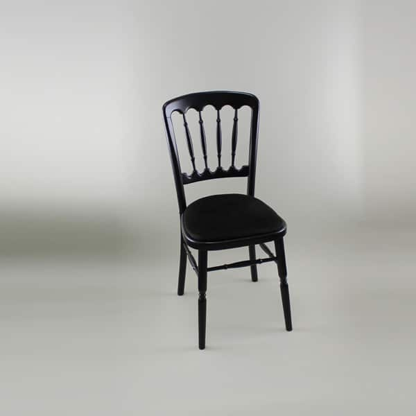 Bentwood Chair - Black Frame with Black Seat Pad - 1004B & 1005D