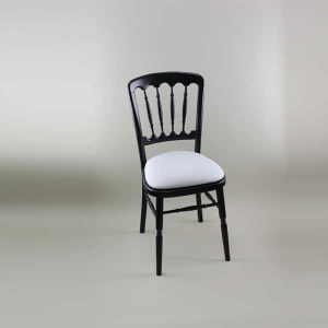 Bentwood Chair - Black Frame with White Seat Pad Cover (Plain) - 1004B & 1006C