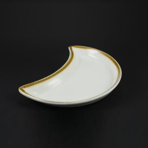 "Crescent Salad Plate 8"", Greek Key  - 1412"