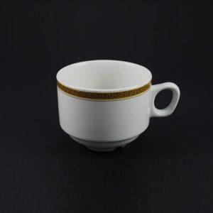 Tea Cup 7oz Stacker, Greek Key - 1422