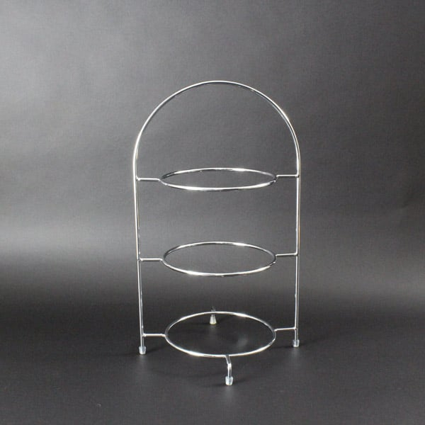 "3 Tier Cake Stand 16.5"" (42cm) x 7"" (17cm) Diameter Rings, Stainless Steel - 3012SS"