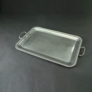 "Butler's Tray, Beaded Edge with Handles - 12""x17"" (30cm x 44cm), Stainless Steel - 3176"