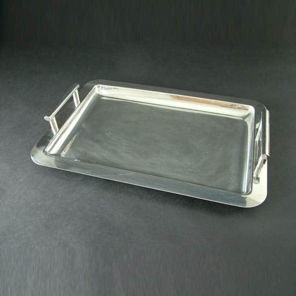 "Stacking Serving Tray -  22""x14"" (50cm x 35cm), Stainless Steel - 3177"