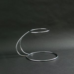 "2 Tier - 'C' Shaped Wedding Cake Stand 10""x7.5""x12"" (26x19x30cm), Stainless Steel - 3195"