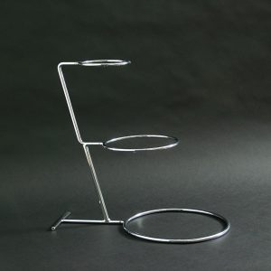"3 Tier - Tall Steps Wedding Cake Stand 16.5""x5x7.5""x10.5"" (42.5x13x19x27cm), Stainless Steel - 3195B"