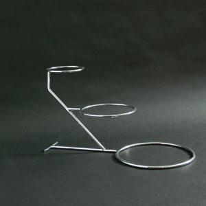 """3 Tier - Small Steps Wedding Cake Stand 12""""x5""""x8""""10"""" (30x13x20x26cm), Stainless Steel - 3195C"""