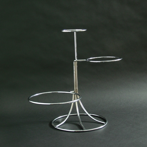 "3 Tier - Offset Steps Wedding Cake Stand 19.5""x5""x8""10"" (50x13x20x26cm),Stainless Steel - 3195G"