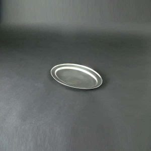 "12"" (30cm) Oval Flat, Stainless Steel - 3502"