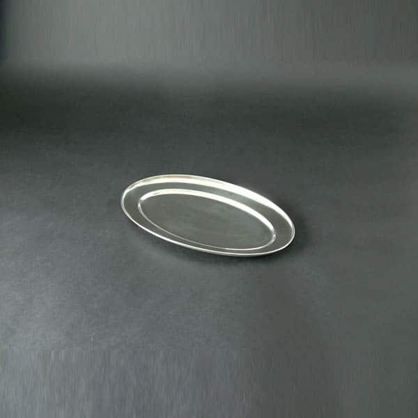 "14"" (35cm) Oval Flat, Stainless Steel - 3504"
