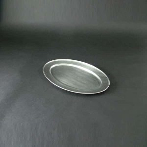 "16"" (40cm) Oval Flat, Stainless Steel - 3506"