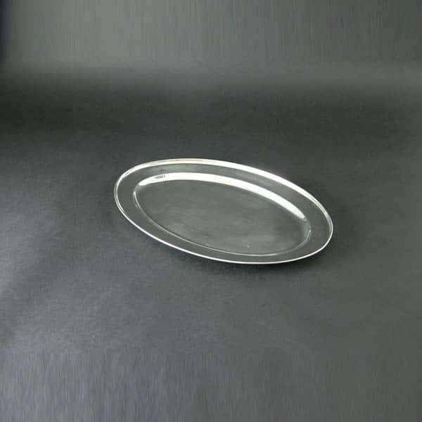 "18"" (45cm) Oval Flat, Stainless Steel - 3508"