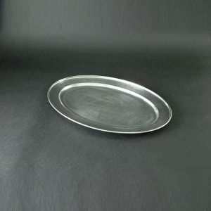 "20"" (50cm) Oval Flat, Stainless Steel - 3510"