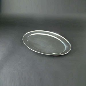 """22"""" (55cm) Oval Flat, Stainless Steel - 3512"""