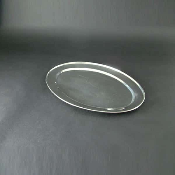 "22"" (55cm) Oval Flat, Stainless Steel - 3512"