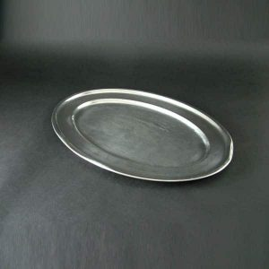 "24"" (61cm) Oval Flat, Stainless Steel - 3514"