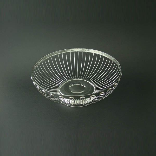 "Executive Bread/Fruit Basket 10"" Diameter (25cm), Stainless Steel - 3848"