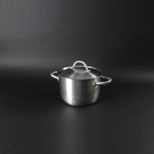 "(Induction Hob) Pot & Lid 10.5pt (5Ltr) - 9"" (23cm) Diameter, Stainless Steel - 4016"