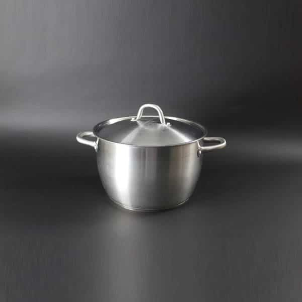 "(Induction Hob) Pot & Lid 21pt (10Ltr) - 11.5"" (29cm) Diameter, Stainless Steel - 4017"