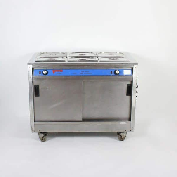 "Hot Cupboard/Bain Marie - 6x1/2 Gastronorm Pans & 56 Plated Meal Capacity - W45""xD25""xH35"" (115x64x89cm), 3kW"