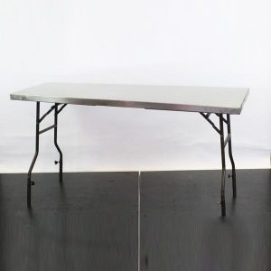 Stainless Steel Preparation Table, Folding – L71'xH30″xW25.5″ (180x76x65cm)