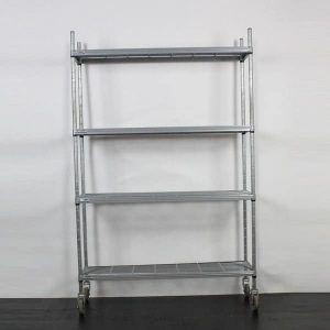 "4 Tier Nylon Coated Shelving Unit - L46""xH72""xW15"" (116x182x38cm)"