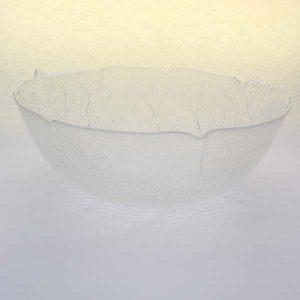 """8"""" (20cm) Glass Bowl, Leaf Pattern"""
