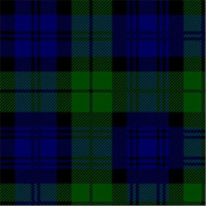 "18"" (45cm) Square Napkin, Tartan - Black Watch"