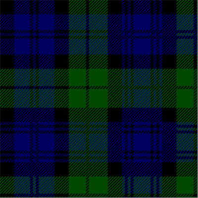 "12""x105"" (30x266cm) Table Runner, Tartan - Black Watch"